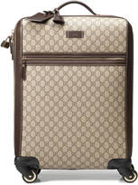 Gucci GG supreme canvas four wheel carry-on suitcase