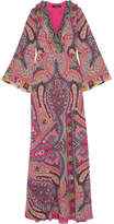 Etro Sequin-embellished Paisley-print Silk Gown - Pink