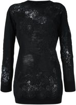 Ermanno Scervino floral pattern jumper - women - Polyamide/Viscose/Wool/Virgin Wool - 44