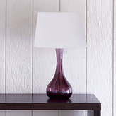 Vidrio Glass Table Lamp, Purple