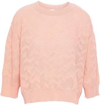 M Missoni Pointelle-knit Cotton-blend Sweater