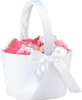 Lillian Rose Large White Flower Girl Basket