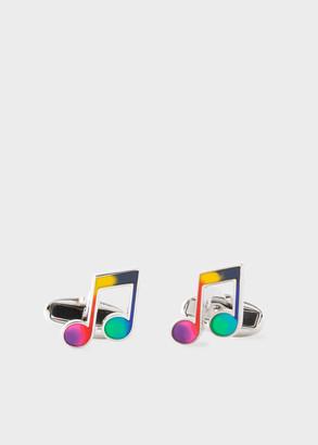Paul Smith Multi-Colour Music Note Cufflinks