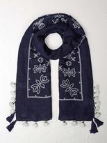 White Stuff Japanese cross stitch scarf