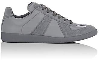"Maison Margiela Men's ""Replica"" Leather & Suede Sneakers - Gray"