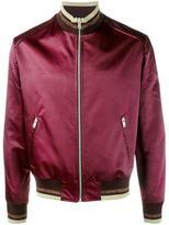 Maison Margiela striped trim satin bomber jacket - men - Polyamide/Polyester - 48