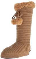 Muk Luks Women's Ribbed Slippers with Poms