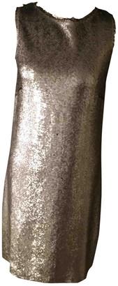 Maison Margiela Silver Glitter Dresses