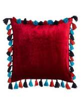 "Blissliving Home Embroidered Viva Mexico Pillow, 18""Sq."