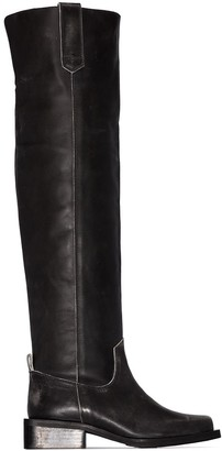 Ganni Chunky Over-The-Knee Boots
