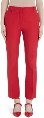 Valentino Wool & Silk Ankle Pants