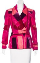 Tom Ford Patchwork Calf Hair Jacket w/ Tags