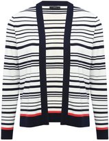 M&Co Stripe edge to edge cardigan