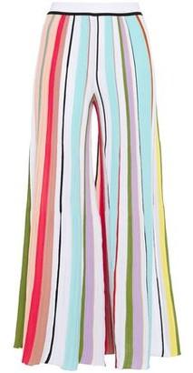 Missoni Pleated Striped Crochet-knit Cotton Wide-leg Pants