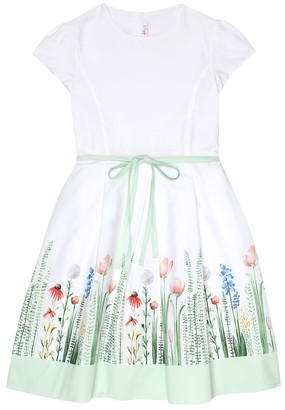 Il Gufo Printed cotton-poplin dress