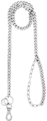 Martine Ali Silver Solid Cuban Leash