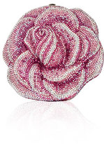 Judith Leiber Couture New Rose Crystal Clutch Bag, Gray/Red