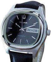 Bulova Stainless Steel Automatic Mens Dress Vintage 1970s Watch