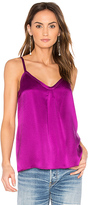 Vince Silk Pleat Cami in Purple