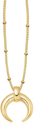 Missoma Lucy Williams Gold Large Horn Necklace