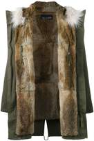 Yves Salomon Green fur lined parka