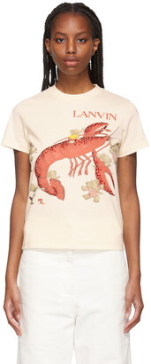 Lanvin Beige Babar Edition 'Book Of Colors' Lobster T-Shirt