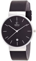 Obaku V153GDCBRB Men's Stainless Steel Leather Band Dial Watch
