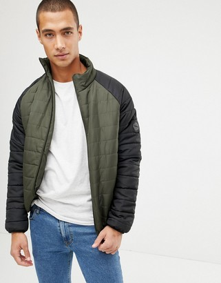 French Connection Padded Jacket With Contrast Raglan Sleeve