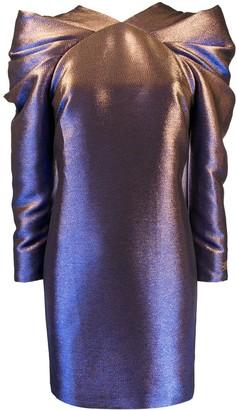 Karl Lagerfeld Paris Pleated Iridescent Dress