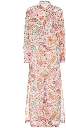 Etro Paisley-print ramie midi shirt dress