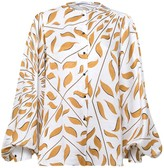 Schumacher Dorothee Graphic Ray Blouse in Caramel on White TS