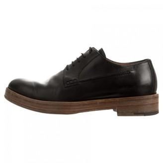 Dries Van Noten Black Leather Lace ups