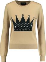 Markus Lupfer Grace embellished intarsia-knit merino wool sweater