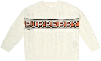BURBERRY KIDS Logo wool-blend sweater