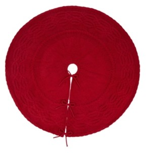 """Glitzhome 52""""D Knitted Christmas Tree Skirt"""