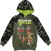 Nickelodeon Little Boys Camouflage TMNT Design Hooded Sweater