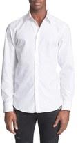 Just Cavalli Men's Trim Fit Jacquard Sport Shirt
