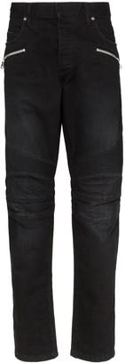 Balmain slim-fit zip-pocket jeans