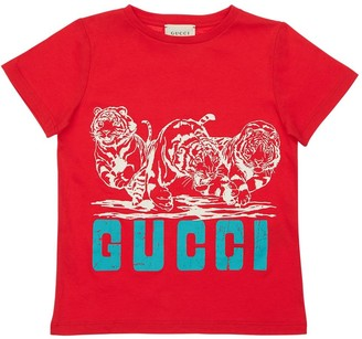 Gucci Printed Cotton Jersey T-shirt