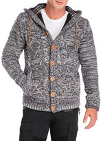 american stitch Cable Knit Hooded Cardigan