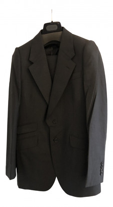 Alexander McQueen Black Cotton Suits