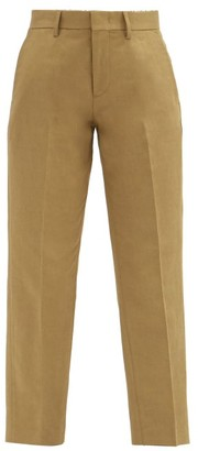 A.P.C. Raphaelle Cropped Cotton-blend Gabardine Trousers - Beige