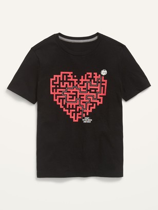 Old Navy Gender-Neutral Valentine's Day Graphic Short-Sleeve Tee for Kids