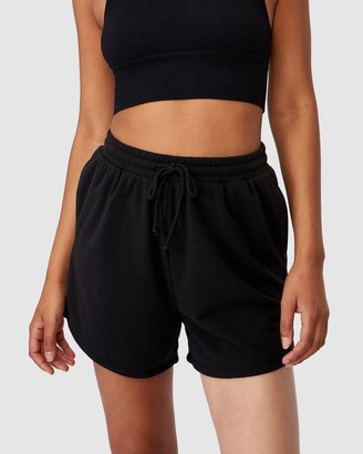 Cotton On Body Active - Women's Black High-Waisted - Lifestyle On Ya Bike Fleece Shorts - Size XS at The Iconic
