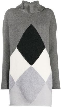 Semi-Couture Argyle Knit Dress