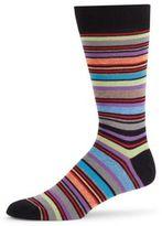 Saks Fifth Avenue Jasper Multistripe Crew Socks