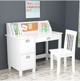 Kid Kraft White Study Desk With Side Drawers