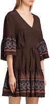 AllSaints Flori Anokhi Dress, Burgundy/Multi