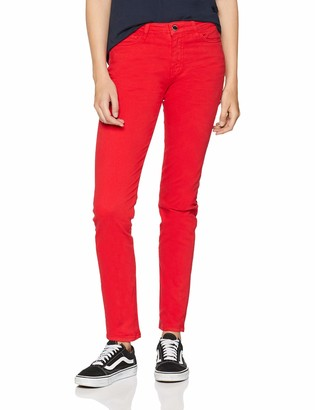 Love Moschino Women's Jeans Skinny Fit Denim Trousers with Hearth Shaped Back Pockets