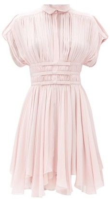 Giambattista Valli Pleated Silk-georgette Mini Dress - Pink